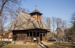 Wooden church in Village Museum Royalty Free Stock Photos