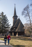 Wooden church in Village Museum Royalty Free Stock Image