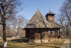 Wooden church in Village Museum Stock Images