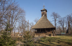 Wooden church in Village Museum Stock Image