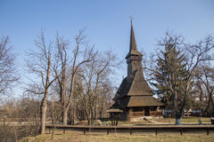 Wooden church in Village Museum Stock Photo