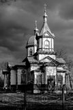 Wooden church. In the village of Skorikovka Ukraine royalty free stock photos
