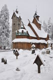 Wooden church Wang in Karpacz Stock Image