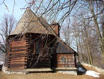 Wooden churches Stock Image
