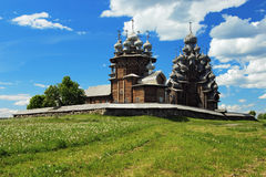 Wooden churches on island Kizhi royalty free stock photo