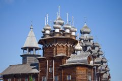 Wooden churches on island Kizhi Stock Images