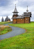 Wooden churches on island Kizhi Stock Photos