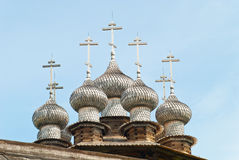 Wooden churches on Kizhi Stock Photo