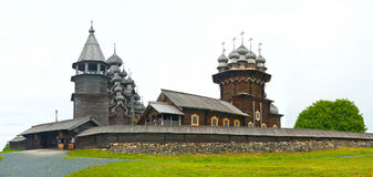Wooden churches on Kizhi Royalty Free Stock Image