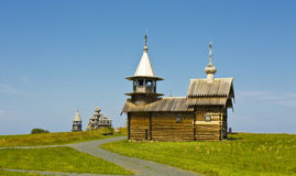 Wooden churches in Kizhi, Russia Royalty Free Stock Images