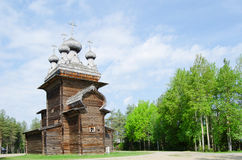 Wooden churches in the north Russia Stock Photo
