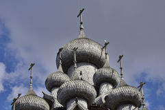 Wooden churches. Russia, Kizhi island. Stock Image