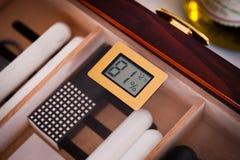 Wooden Cigar Humidor Royalty Free Stock Image