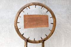 Wooden circle board Royalty Free Stock Image