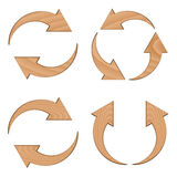 Wooden circular arrows Stock Image