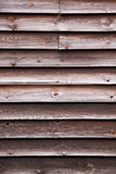 Wooden cladding on the side of a barn Royalty Free Stock Photo