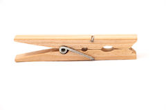 Wooden clamps. On a white background Stock Photo