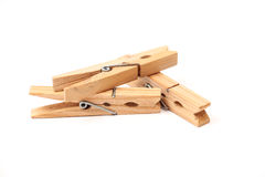 Wooden clamps Royalty Free Stock Image