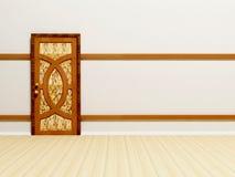 Wooden classic door Royalty Free Stock Image