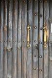 Wooden Classic door. Old door of brick building - Georgia Stock Images