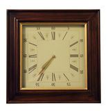 Wooden classical wall clock Stock Photo
