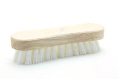 Wooden cleaning scrub brush Royalty Free Stock Images