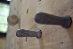 Wooden climbing fingerboard Stock Photography