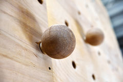 Wooden climbing fingerboard Royalty Free Stock Photography