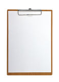 Wooden Clip board and paper Stock Image