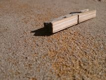 Wooden clip Royalty Free Stock Image