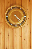 Wooden clock Royalty Free Stock Image