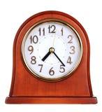 Wooden clock Stock Image
