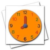 Wooden clock Royalty Free Stock Photo