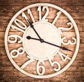 Wooden clock. Antique wooden clock at a bar in berlin Stock Images