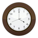 Wooden Clock EPS Royalty Free Stock Photos