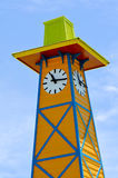 Wooden clock tower Royalty Free Stock Photo