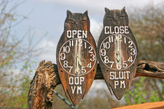 Wooden clocks Royalty Free Stock Photography