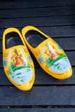 Wooden clogs Stock Images