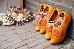 Wooden Clogs Decoration Stock Photo