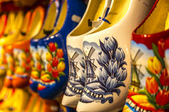 Wooden Clogs in Holland Stock Photography