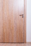 Wooden closed door Royalty Free Stock Image