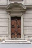 Wooden closed door Stock Photography