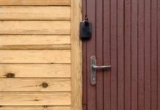 Wooden closed door Royalty Free Stock Image