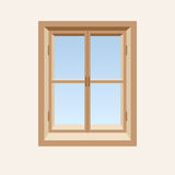 Wooden closed window. Stock Photos