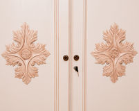 Wooden Closet Royalty Free Stock Photography