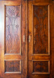 Wooden closet doors Stock Photography