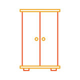 Wooden closet isolated icon. Vector illustration design vector illustration
