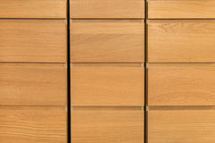 Wooden closet Stock Images