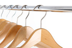 Wooden clothes hanger Royalty Free Stock Image