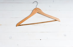 Wooden clothes hanger Stock Image